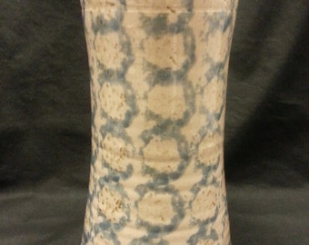 Vintage Westerwald Pottery 1993 M-E-L Light Blue with Brown Flecks