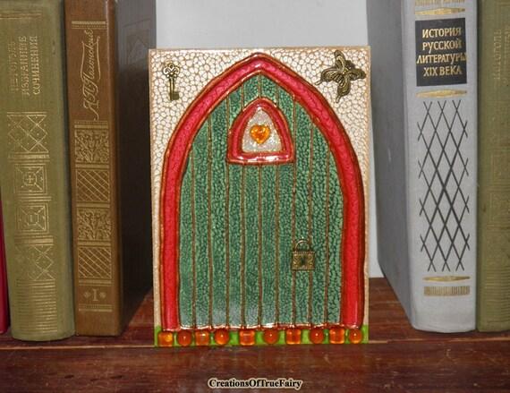 Green Elf Door Irish Fairy Door Kids Gift By