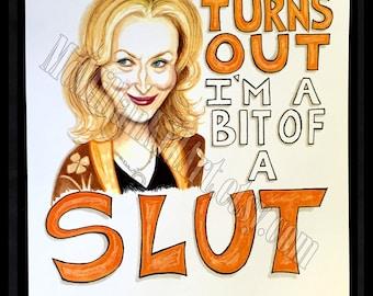 "Meryl Streep ""It's Complicated"" Movie Quote Art Print"