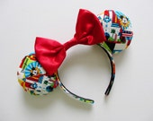 Disneyland Colorful Print Mouse Ears Headband