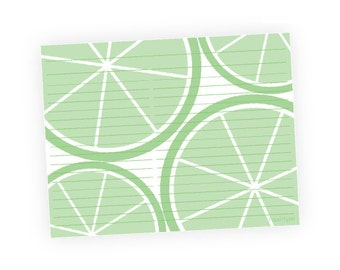 Editable Recipe Cards - Limes - Instant Download, Digital, Printable, PDF