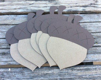 Acorn Die Cuts - Woodland Party, First Birthday, Party Decorations, Baby Shower