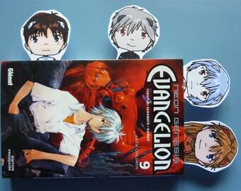 Bookmark Neon Genesis Evangelion: Shinji, Asuka, Rei and Kaworu