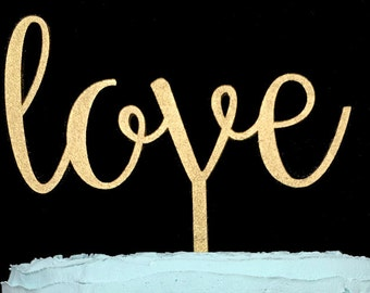 Love Wedding Cake Topper, Love Cake Topper, Wedding Cake Topper, Cake Topper, Cake Topper Wedding, Custom Cake Topper, Gold Cake Topper
