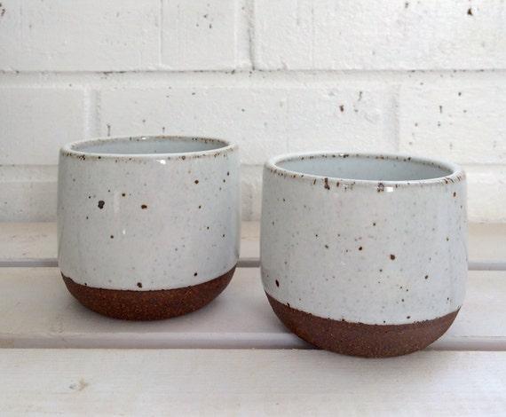 Sale handmade ceramic handleless coffee mugs pottery cups - Handleless coffee mugs ...