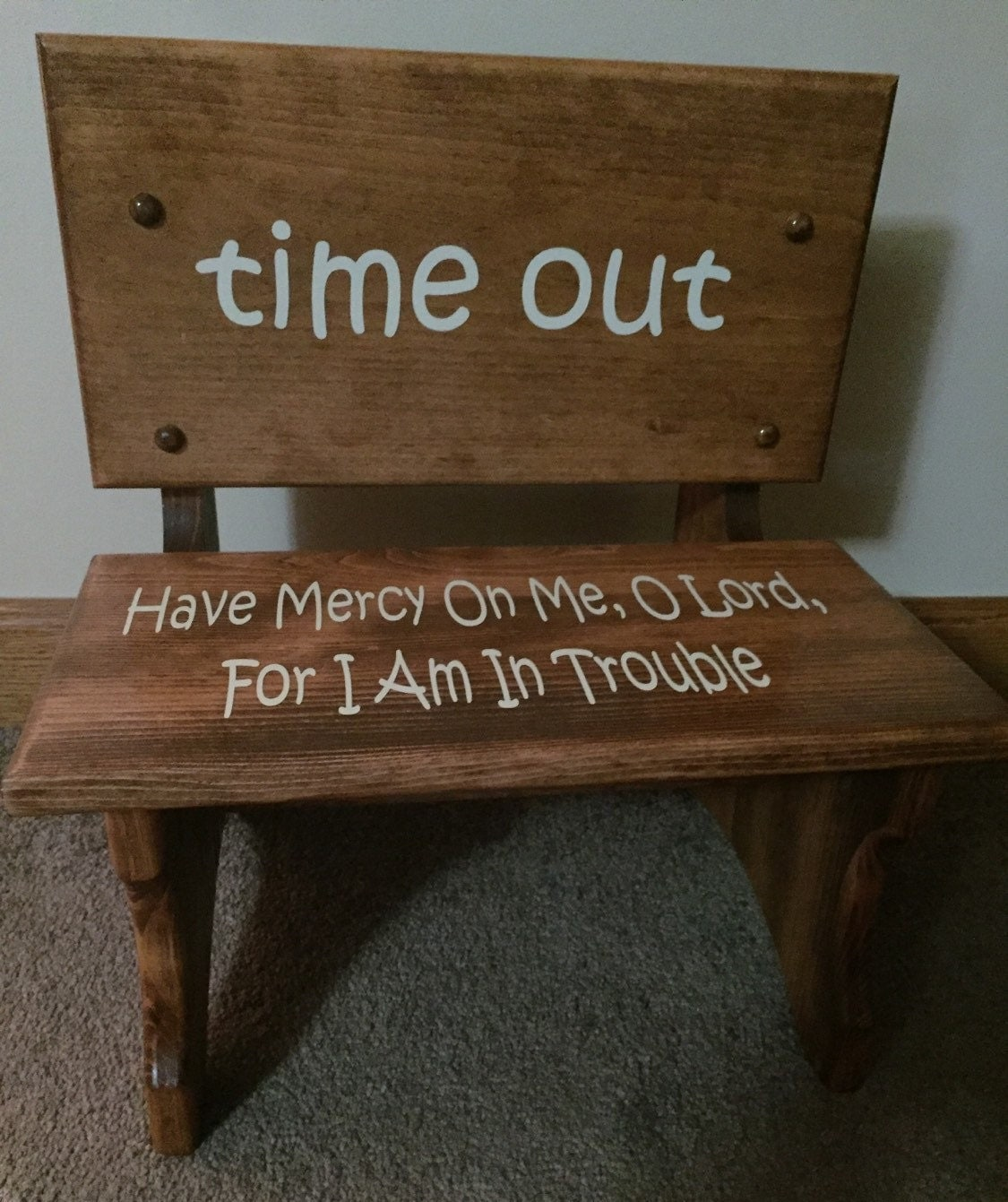 Handmade Wooden Toddler Time Out Chair Bench By Againstthegrainllc