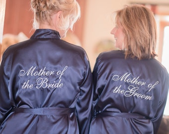 Mother of the Bride Robe & Mother of the Groom Robe Set, Set of 2 Mother of the bride and Mother of the Groom satin robe, satin bridal robe