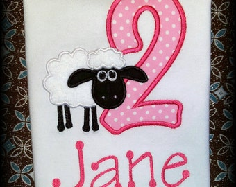 Personalized Shaun the Sheep Shirt - Sheep Shirt - Sheep Birthday Shirt - Embroidered Shirt - Shaun the Sheep Birthday