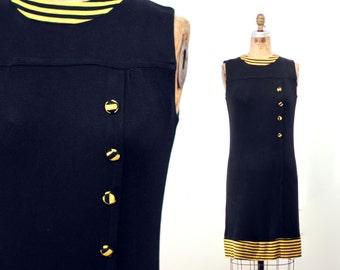 Black and Yellow Mod Dress