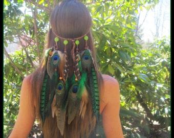 Amazonian Princess Feather Headband, feather headband, feather headdress, feather headpiece, boho headband, bohemian headband, gypsy, hippie