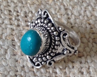 Ethnic Turquoise Ring
