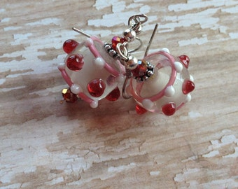 Pink Lampwork Earrings,  Earrings, Lampwork Earrings, Pink Earrings, For Her, Gift Ideas