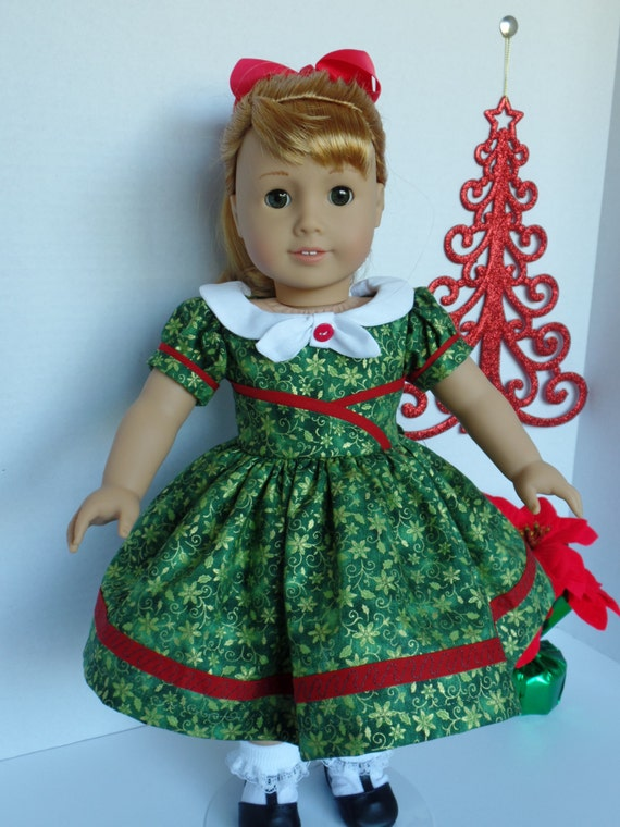 1950 s christmas dress for most 18 inch dolls
