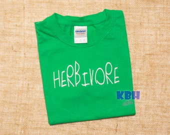 Embroidered Vegan Herbivore Child Shirt