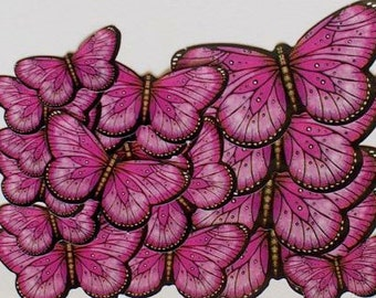 Hot Pink Butterfly Stickers