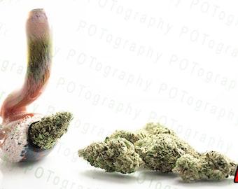 Weed Pipes (3 options) - Cannabis Poster - Nug Art - Pot Bud - 420 Print - Marijuana Photo - Amber Weed Pipe - Bong Jar Glass - USA Devil