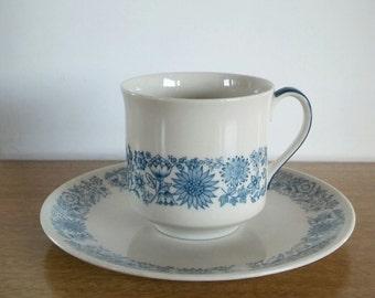 Royal Doulton Teacup and Saucer Cranbourne Pattern, doulton england royal teacups royal doulton china vintage fine china vintage