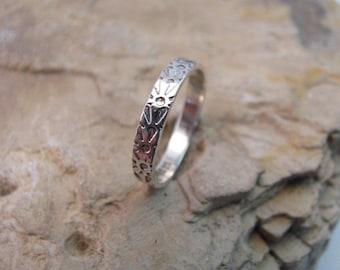Sterling silver pattern ring