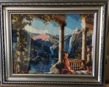 Diamond painting Mosaic wall art 3d picture Home interiors decor waterfall Mountains Embroidery picture Landscape Crystal paintings.