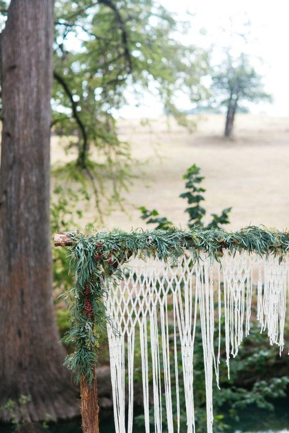 Boho Wedding Arch For Altar Or Home Decor Unique Macrame