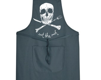 Eat The Rich Mens Womens Childrens Apron Workwear Shop NEW