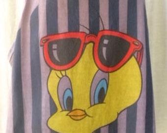 Vintage 80s Cute TWEETY BIRD Cotton Sun tee
