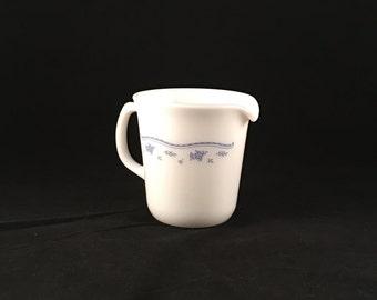 Pyrex | Milk Glass Creamer Pitcher | Morning Blue | Eight Ounces