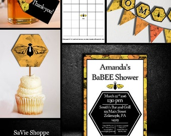 Bee Baby Shower Invitation, Bee Baby Shower, Mommy to Be, Baby Shower Printable, Digital Baby Shower, Bee Baby Shower Kit, Bee Theme