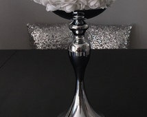 Silver Flower Ball Stand OR Candle Holder Wedding Centerpiece