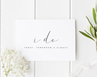 I Do Card, Groom Wedding Day Card, Bride Wedding Day Card, See You At The Altar Card, Card For Groom, Card For Bride, I Do Wedding Card