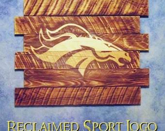 Denver Broncos Wall Decor wood sports sign | etsy