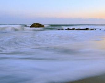 Narragansett Seascape  ~ Panoramic, Narragansett, Rhode Island, Nautical, Coastal Home Decor, Beach Photography, Ocean, Joules, Wall Art