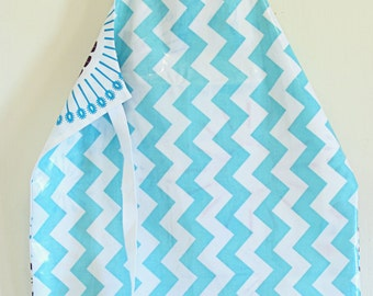 Chevron Utensils - Laminate Apron