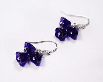 cobalt earrings royal blue jewelry sterling silver earrings girlfriend gift boho earrings bff gifts sister birthday gift military wife пя78
