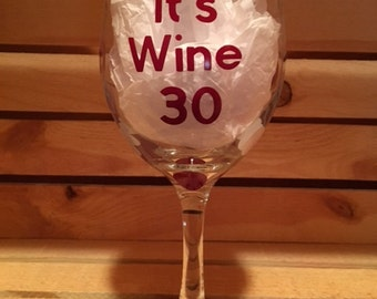 Wine Glass, Decorated Wine Glass, Personalized Wine Glass