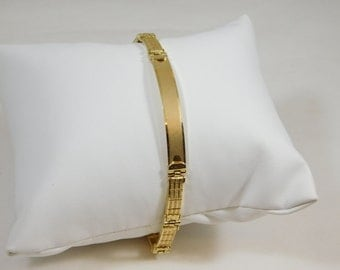 14kt Yellow Gold ID Bracelet