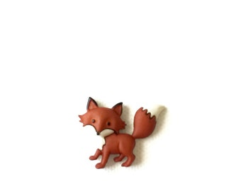 Cute Fox Pin, Red Fox, Woodland, Forest,Lapel Pin, Men's Tie Tack, Brooch, Purse Decor