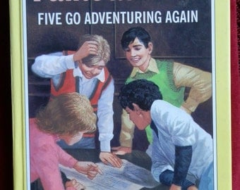 Vintage Hardcover Book: Famous Five, Five go Adventuring Again by Enid Blyton Award Publications 1993