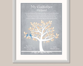 Godfather Gift - Baptism Gift For Godfather - Christening Gift For Godfather - Gift From Godchild Godson Goddaughter - Godparents Baptsim