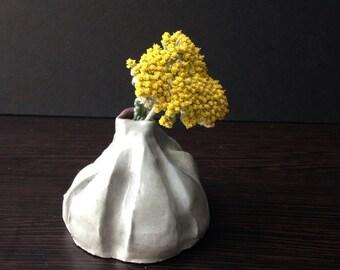 """Light Gray """"Grasp"""" Flower Bud Vase"""