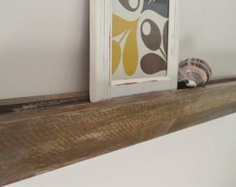 "Wooden Floating 24"" Photo Shelf-Ledge- Rustic Decor-Gallery Wall Ledge-Display Shelf"