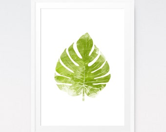 Botanical print, Leaf art, Photography, Outdoor art, Botanical prints, leaf print, Water color painting, Tropical art, Botanical leaf print