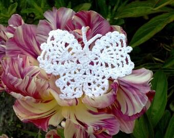 Crochet butterflies Crocheted applique Butterfly applique Crochet motif