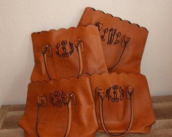 Monogram bag set of 6 bridesmaids totes- Bridesmaid gifts - bridemaids presents- bridesmaid bags