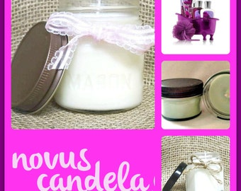 Mason Jar Candle - Soy Candle - Soy Scented Candle - Dark Kisses Candle - Homemade Candle - Jar Candle - Just Because  Gift - 4 & 8 oz