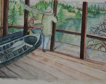 """8"""" x 10"""" Original watercolor painting on 140 lb. high quality cold press paper."""