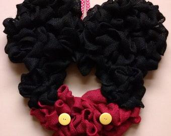 Burlap Mickey Mouse Wreath