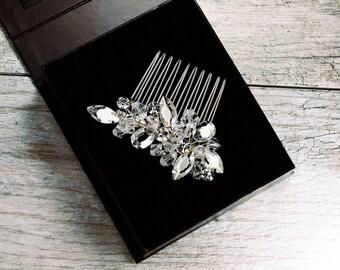 Bridal Hair Comb, Crystal Bridal Hair Comb, Wedding Hair Comb, Mosaic Hair Comb, Crystal Cluster Hair Comb, Wedding Hair Comb, ROBIN