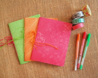 Set of 3 Mini Journals/ Notebooks