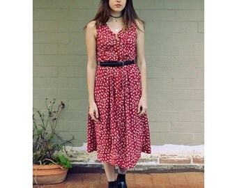 Vintage 1990s Button Down Dress